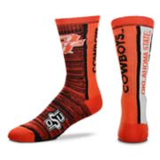 Adult For Bare Feet Oklahoma State Cowboys Bar Stripe Crew Socks