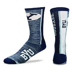 Adult For Bare Feet BYU Cougars Bar Stripe Crew Socks