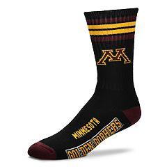 For Bare Feet Minnesota Golden Gophers Duece Black Crew Socks
