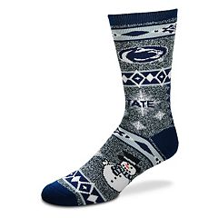 Adult For Bare Feet Penn State Nittany Lions Team Ugly Holiday Crew Socks