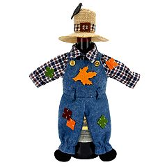 Celebrate Fall Together Scarecrow Wine Bottle Cover