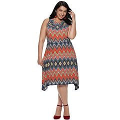 Plus Size Suite 7 Print Dress