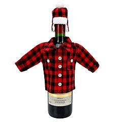 Celebrate Fall Together Lumberjack Wine Bottle Cover
