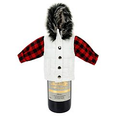 Celebrate Fall Together Puffy Vest Wine Bottle Cover