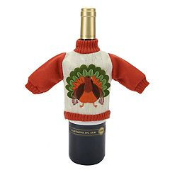 Celebrate Fall Together Turkey Sweater Wine Bottle Cover