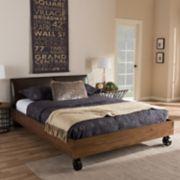 Baxton Studio Brooke Industrial Platform Bed