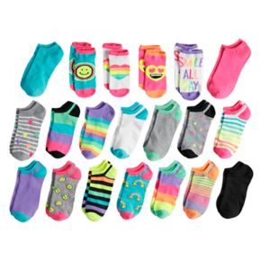 Girls 4-16 Capelli 20-pack No-Show Socks