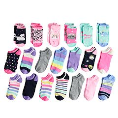 Girls 4-16 Capelli 20-pack No-Show Socks