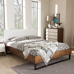 Baxton Studio Mitchell Industrial Platform Bed