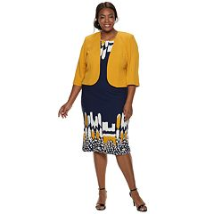 Plus Size Maya Brooke Dress & Jacket Set