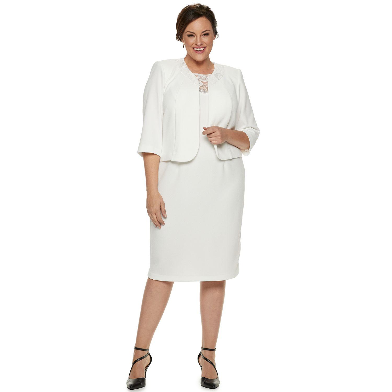 Plus Size Long White Dress