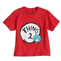 Toddler Boy & Girl Dad & Me Dr. Seuss Thing 2 Graphic Tee