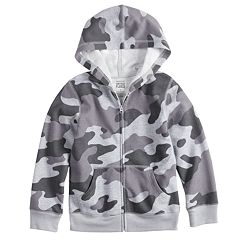 Toddler Boy Jumping Beans® Camouflaged Softest Fleece Zip Hoodie