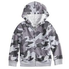 Toddler Boy Jumping Beans® Camouflaged Softest Fleece Zip Hoodie
