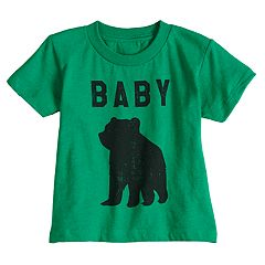 Toddler Boy & Girl Dad & Me Baby Bear Graphic Tee