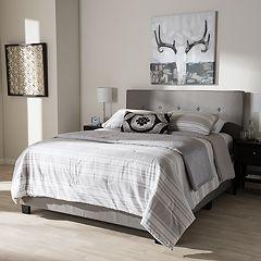 Baxton Studio Hampton Tufted Bed