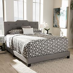 Baxton Studio Brunswick Tufted Bed