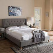 Baxton Studio Adelaide Tufted Platform Bed