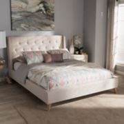 Baxton Studio Adelaide Tufted Platform Bed