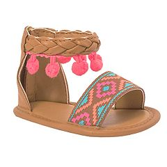 Baby Girl Wee Kids Aztec Sandal Crib Shoes