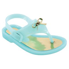 Baby Girl Wee Kids Aqua Jelly Thong Sandal Crib Shoes