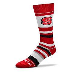 Men's For Bare Feet North Carolina State Wolfpack Crew Cut Socks