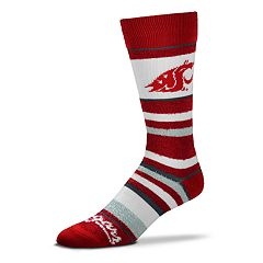 Men's For Bare Feet Washington State Cougars Crew Cut Socks