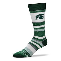 Men's For Bare Feet Michigan State Spartans Crew Cut Socks