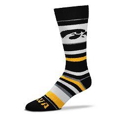 Men's For Bare Feet Iowa Hawkeyes Crew Cut Socks