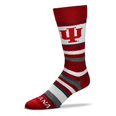 Men's For Bare Feet Indiana Hoosiers Crew Cut Socks