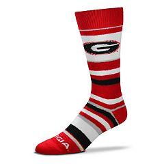 Men's For Bare Feet Georgia Bulldogs Crew Cut Socks