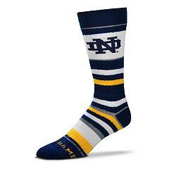 Men's For Bare Feet Notre Dame Fighting Irish Crew Cut Socks