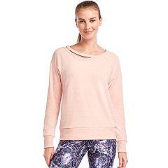 Women's Jockey Sport Lean In Cutout Sweatshirt
