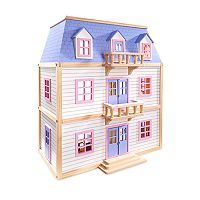 Melissa & Doug Modern Wooden Multi-Level Dollhouse