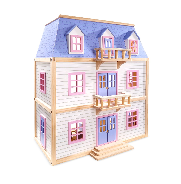 Melissa U0026 Doug Modern Wooden Multi Level Dollhouse