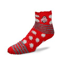 Women's For Bare Feet For Bare Feet Ohio State Buckeyes Plush Ankle Socks