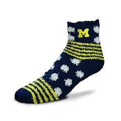 Women's For Bare Feet For Bare Feet Michigan Wolverines Plush Ankle Socks