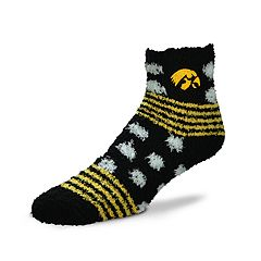 Women's For Bare Feet For Bare Feet Iowa Hawkeyes Plush Ankle Socks