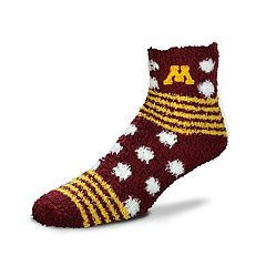 Women's For Bare Feet For Bare Feet Minnesota Golden Gophers Plush Ankle Socks