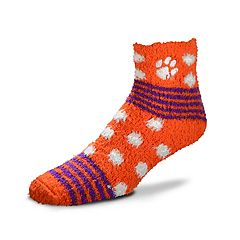 Women's For Bare Feet For Bare Feet Clemson Tigers Plush Ankle Socks