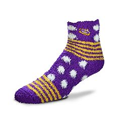 Women's For Bare Feet For Bare Feet LSU Tigers Plush Ankle Socks