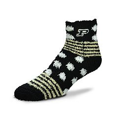 Women's For Bare Feet For Bare Feet Purdue Boilermakers Plush Ankle Socks