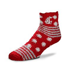 Women's For Bare Feet For Bare Feet Washington State Cougars Plush Ankle Socks