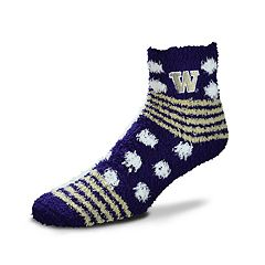 Women's For Bare Feet For Bare Feet Washington Huskies Plush Ankle Socks