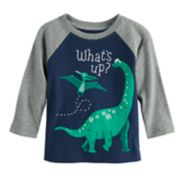 "Baby Boy Jumping Beans® ""What's Up"" Dinosaur Raglan Graphic Tee"