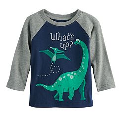 Baby Boy Jumping Beans® 'What's Up' Dinosaur Raglan Graphic Tee