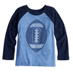 Baby Boy Jumping Beans® Football Long Sleeve Slubbed Raglan Graphic Tee