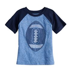 Baby Boy Jumping Beans® Football Slubbed Raglan Graphic Tee
