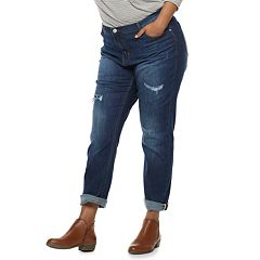 Juniors' Plus Size Unionbay Low-Rise Ballard Slim Boyfriend Jeans