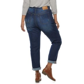Juniors' Plus Size Unionbay Low-Rise Ballard Slim Boyfriend Jeans